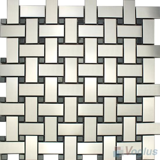 Basket Weave Stainless Steel Metal Mosaic VM-SS95