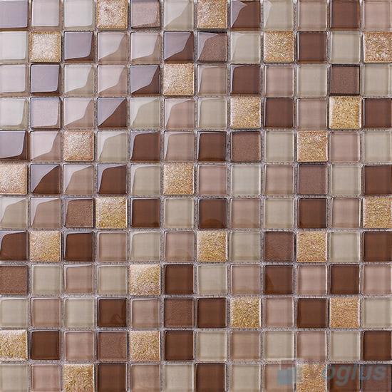 Beaver 1x1 Glass Ceramic Mosaic Tiles VB-GCB99