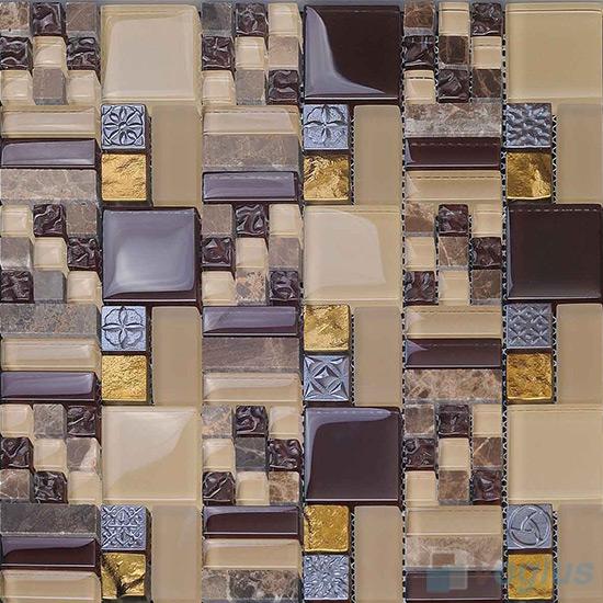 Blistre Maze Glass Mix Resin Mosaic VB-GRM98