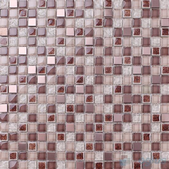 Bole 15x15mm Glass Mix Ceramic Mosaic VB-GCA99