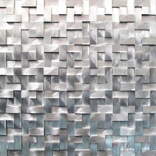 Breakfront Pinwheel Aluminum Metal Mosaic VM-AM99