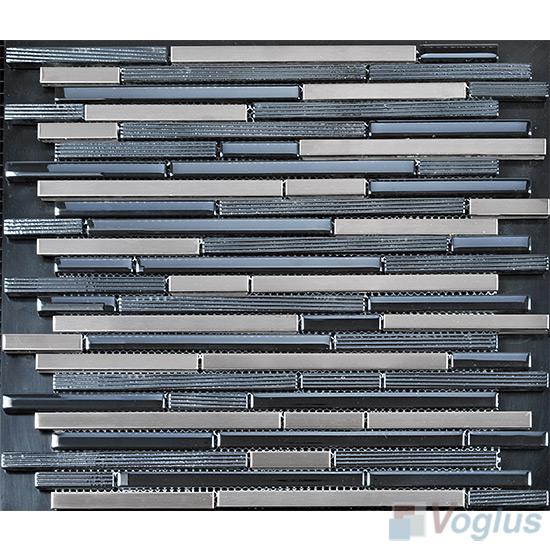 Browny Bullet Linear Glass Metal Mosaic Tiles VB-GML91