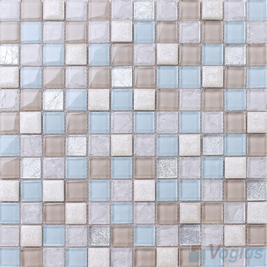 Columbia 1x1 Glass Ceramic Mosaic Tiles VB-GCB94