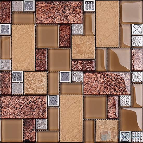 Cordovan Magic French Pattern Glass Ceramic Mosaic VB-GCM97