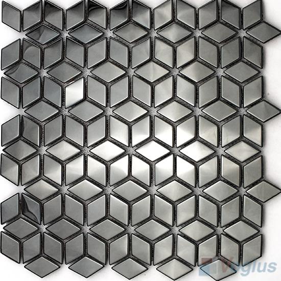 Diamond Stainless Steel Metal Mosaic VM-SS90