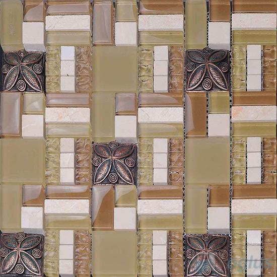 Eton Maze Glass Mix Resin Mosaic VB-GRM99