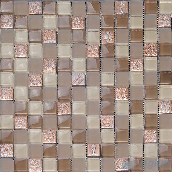 Fallow 23x23mm Glass Mosaic Mixed Resin VB-GRB95