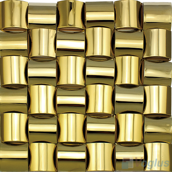 Gold Camber Stainless Steel Metal Mosaic VM-SS99
