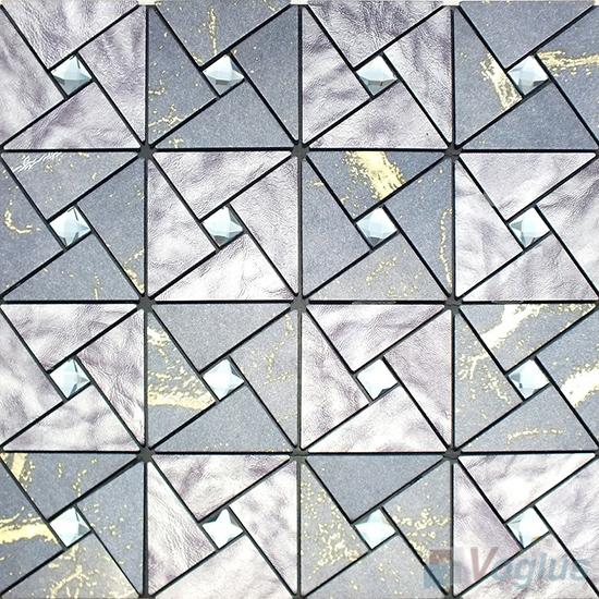 Gray Retri Aluminum Plastic Metal Mosaic VM-AP95