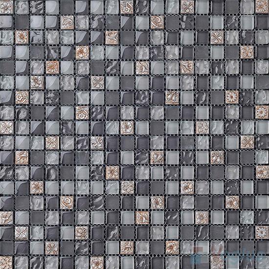Grayneo 15x15mm Glass Mix Resin Mosaic Tiles VB-GRA99