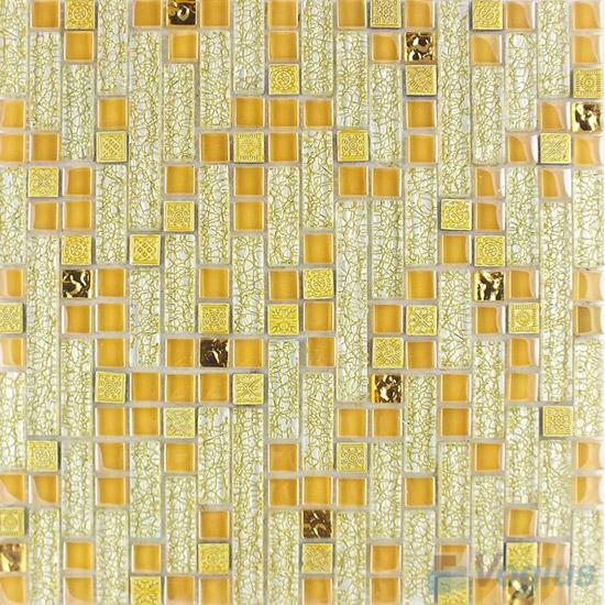 Naples Linear Glass Resin Mosaic Tiles VB-GRL99