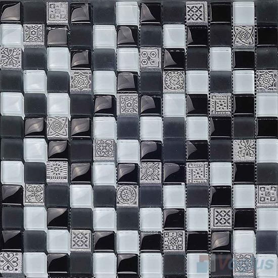 Nightday 23x23mm Glass Mosaic Mixed Resin VB-GRB98