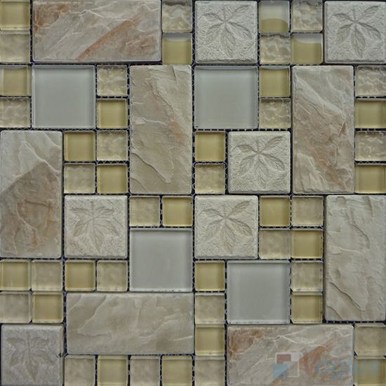 Sand Magic French Pattern Glass Ceramic Mosaic VB-GCM98