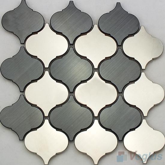 Silver Lantern Stainless Steel Metal Mosaic VM-SS97
