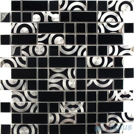 Titanium Black Stainless Steel Metal Mosaic VM-SS86