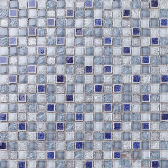 Ultramarine 15x15mm Glass Mix Ceramic Mosaic VB-GCA98