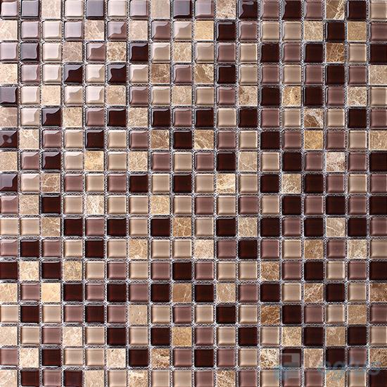 Bole 15x15mm Glass Mix Stone Mosaic VB-GSA96