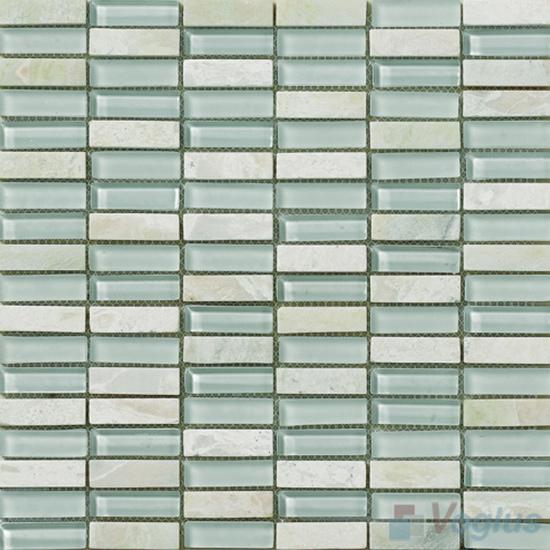 Celeste 15x48mm Glass Stone Mosaic Tiles VB-GSC92