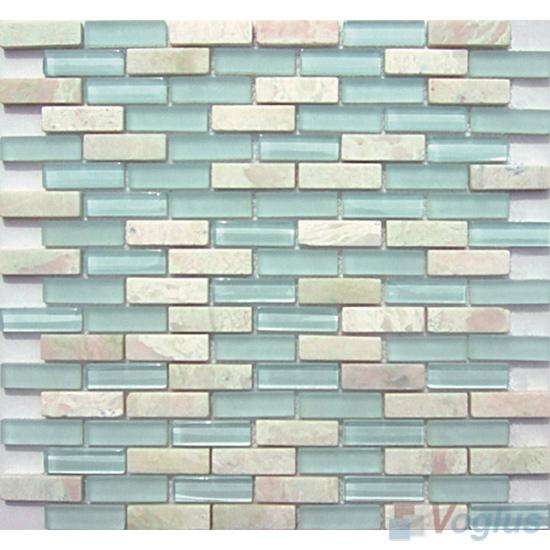 Celeste Subway 15x48mm Glass Stone Mosaic Tiles VB-GSC86
