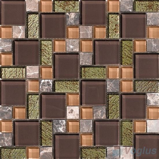 Chocolate Magic Glass Stone Mix Mosaic VB-GSM87