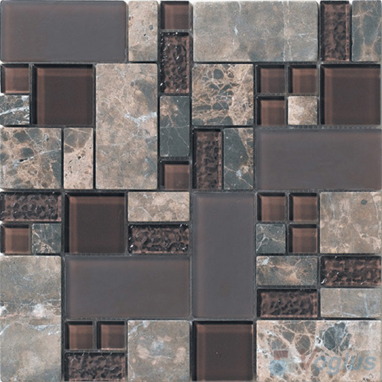 Coffee Magic Glass Stone Mix Mosaic Tile VB-GSM99