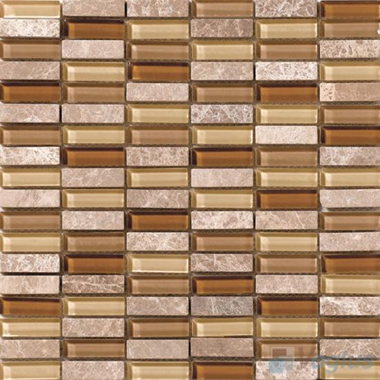 Desert 15x48mm Glass Stone Mosaic Tiles VB-GSC95
