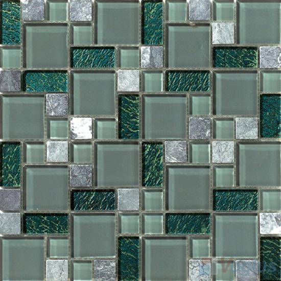 Jungle Green Magic Glass Stone Mix Mosaic VB-GSM88