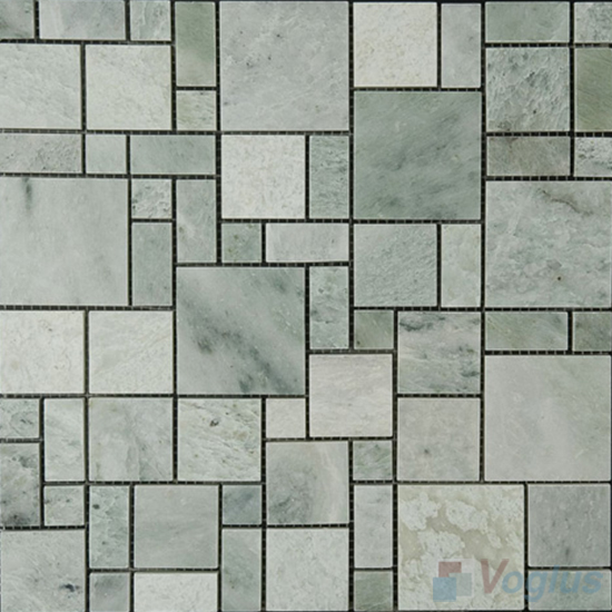 Ming Green Polished Magic Cube Marble Mosaic VS-PMG98