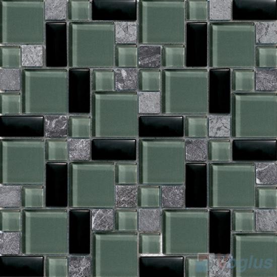 Mint Green Magic Glass Stone Mix Mosaic VB-GSM92
