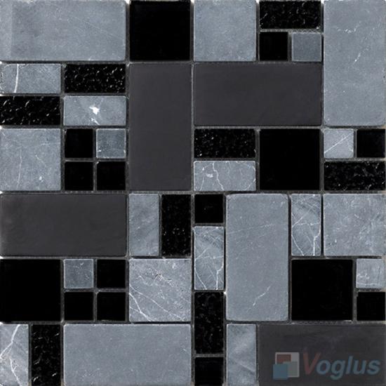 Night Magic Glass Stone Mix Mosaic Tile VB-GSM95