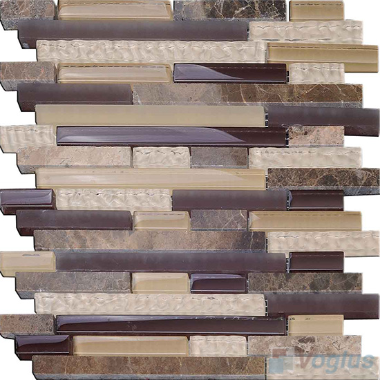 seal linear glass stone mosaic tiles vbgsl99