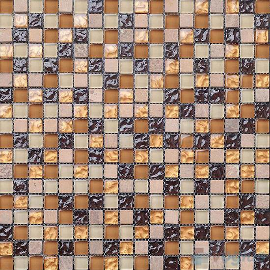 Sunset 15x15mm Glass Mix Stone Mosaic VB-GSA85