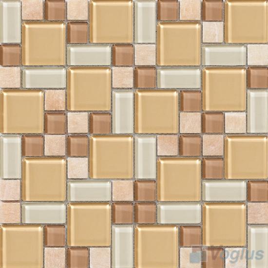 Wheat Magic Glass Stone Mix Mosaic VB-GSM90