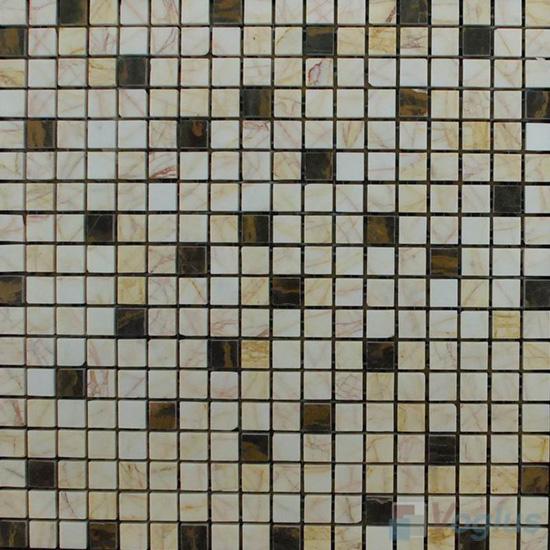 Agate Polished 15x15mm Painbox Stone Mosaic VS-SAB91
