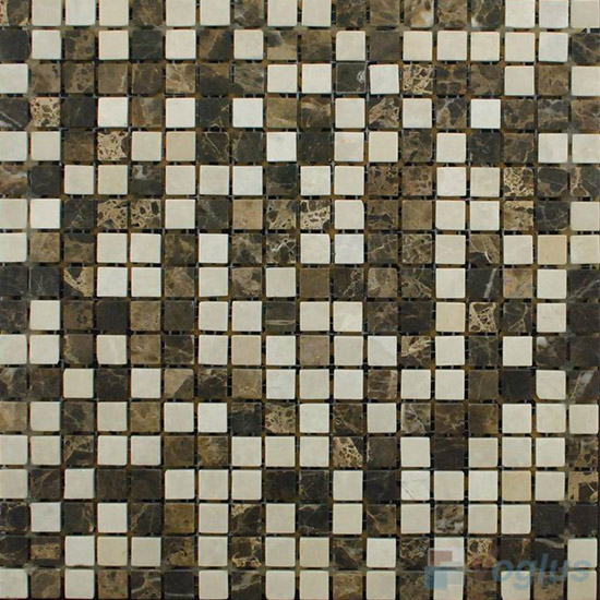 Brown Polished 15x15mm Painbox Stone Mosaic VS-SAB92