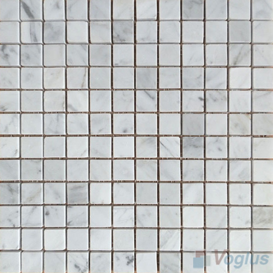Carrara White 23x23mm Polished Marble Mosaic Tiles VS-SBA95