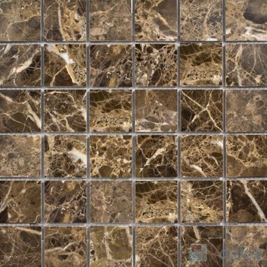 Dark Emperador 48x48mm Tumbled Classic Marble Mosaic VS-SEA92