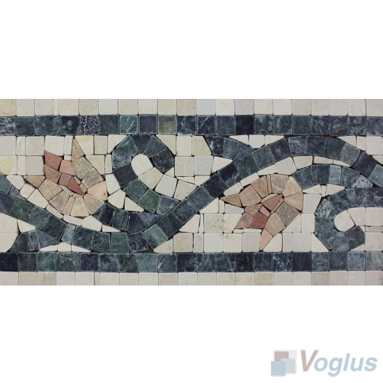 Flower Marble Stone Mosaic Border VS-ABD96