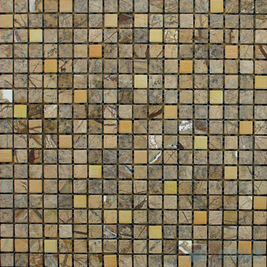 Forest Coffee Polished 15x15mm Painbox Stone Mosaic VS-SAB93
