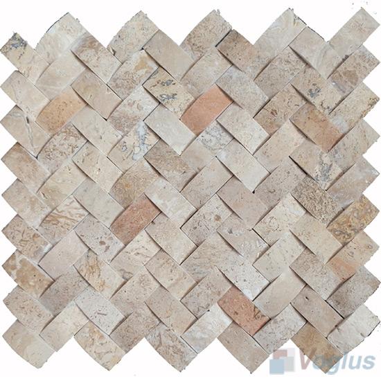 Herringbone Travertine Stone Mosaic VS-TV95