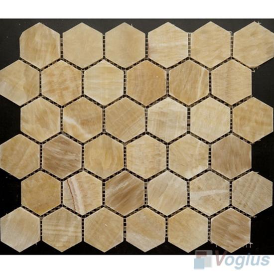 Medium Hexagon Onyx Stone Mosaic VS-Y85