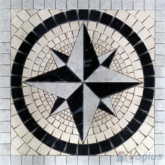Rock Stone Mosaic Square Medallion VS-ASQ88