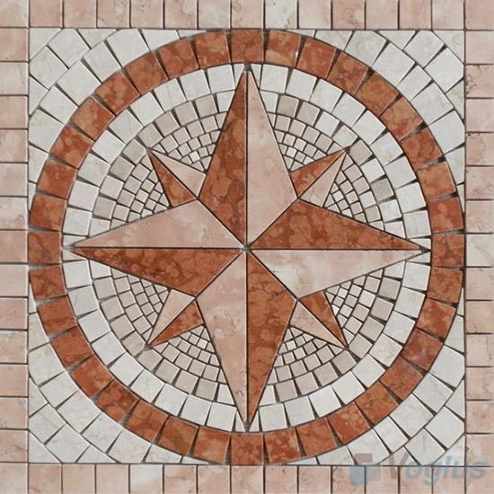 Rock Stone Mosaic Square Medallion VS-ASQ89