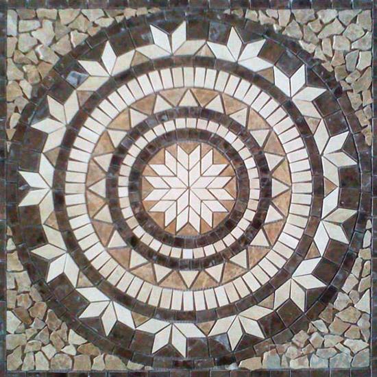 Rock Stone Mosaic Square Medallion VS-ASQ90