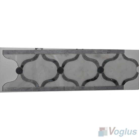 Waterjet Marble Mosaic Border VS-ABD94