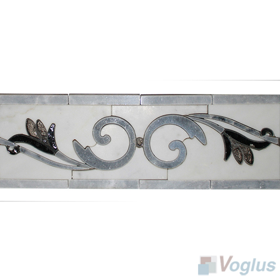 Waterjet Marble Mosaic Border VS-ABD95