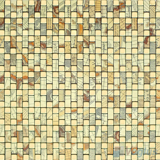 Aluminum Plastic Metal Mosaic VM-AP93