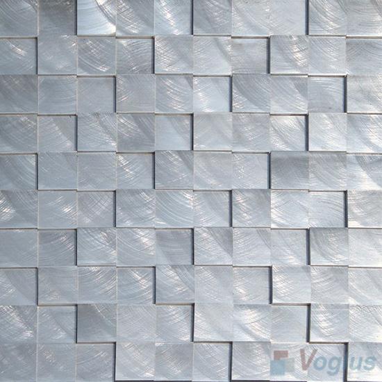Breakfront Aluminum Metal Mosaic VM-AM97