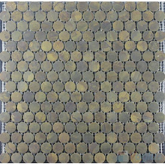 Circle Copper Metal Mosaic VM-CP98