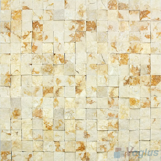 Golded Beige Natural Split Face Heritage Marble Mosaic VS-PSL95